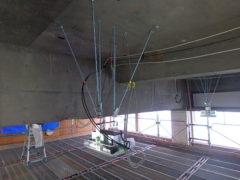 高天井用LED照明器具更新工事